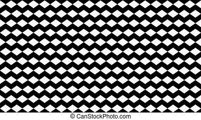 Abstract Black and White Background Made of Cubes - Easy to...