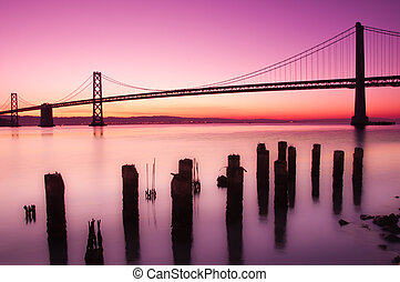 baia, ponte, San, francisco, california