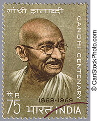 Mahatma Gandhi - INDIA - CIRCA 1969 :stamp printed in India...