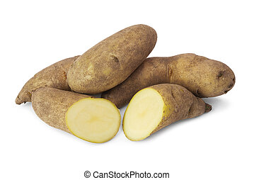 Fresh raw kipfler potatoes - Fresh raw kipfler potatoes...