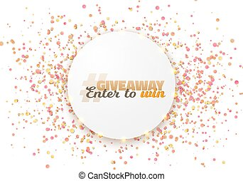 Giveaway Competition Template - Illustration of Giveaway...