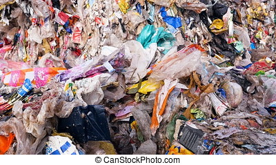 Garbage dump. Close up. Enviroment pollution concept. -...