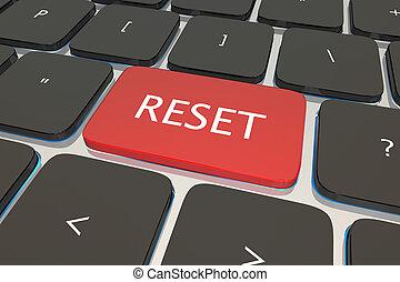 Reset Computer Keyboard Key Button Restart Again 3d...