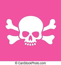 Goofy Skull and Crossbones - Vector illustration of fun...