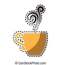delicious coffee cup icon vector illustration design