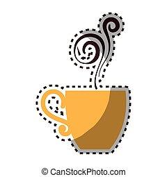 delicious coffee cup icon vector illustration design