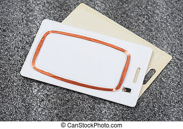 coil in RFID card - coil in RFID Card, Radio-frequency...