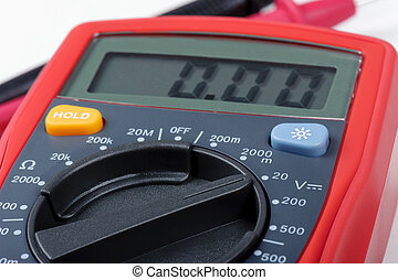 operating digital multimeter - multimeter's selector...