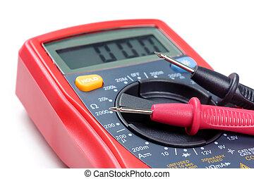 test leads of multimeter - digital multimeter or multitester...