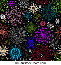 Repeating dark christmas pattern