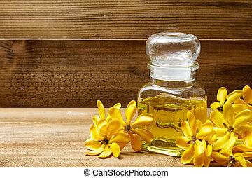 aceite, Gardenia, amarillo, aroma, flores, esencial, masaje...