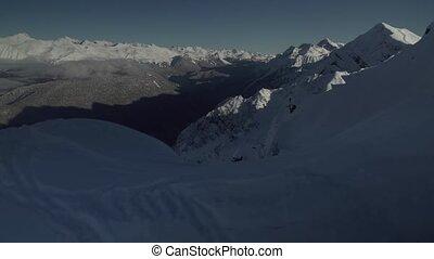 North slope Aibga Ridge of Western Caucasus at Rosa Khutor...