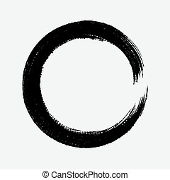 Grunge brush wave nk curved line . Vector element - Grunge...