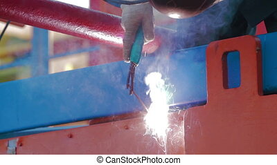 Welding of drilling fluid circulation system - Installation...