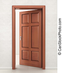 Door wood, input, open,premises, cleanliness, design