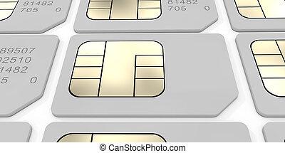 Sim Card. 3D rendering