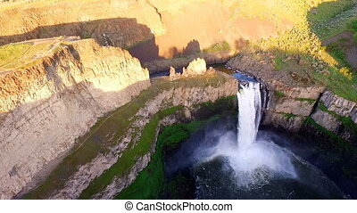 Snake River Flows Over Palouse Falls Eastern Washington -...