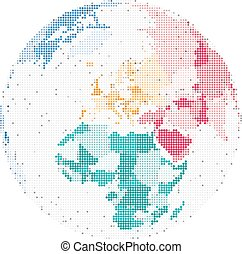 Map of Europe and Africa, Vector illustration