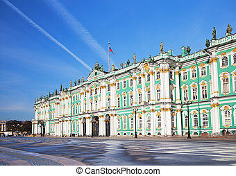 Winter Palace in St. Petersburg - Winter Palace and...