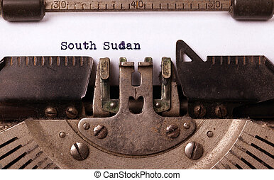 Old typewriter - South Sudan - Inscription made by vintage...