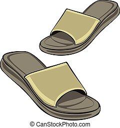 slippers - fully editable illustration slippers