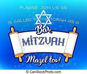 Bar Mitzvah invitation card - Bar Mitzvah invitation or...