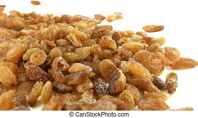 Raisins on White Background