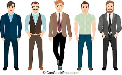 Handsome men in business formal style - Handsome men dressed...