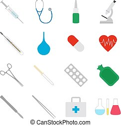Set of medical icons, vector illustration