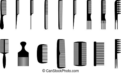 Set of combs, vector illustration