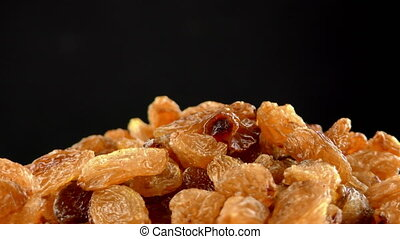 Raisins Turning Macro