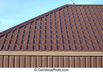 Part of the metal roof