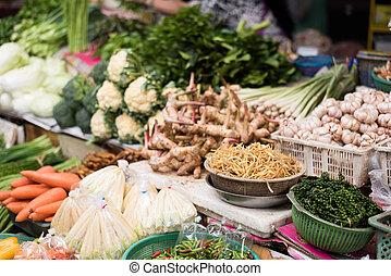 Thailand market place - bangkok local traditional market at...
