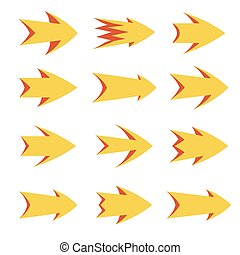 Vector set of arrows