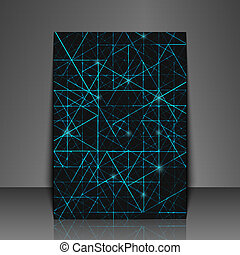 Graphic illustration. - Template flyer with abstract...