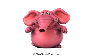 Fun pink elephant - 3D Animation