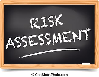 Blackboard Risk Assessment - detailed illustration of a...