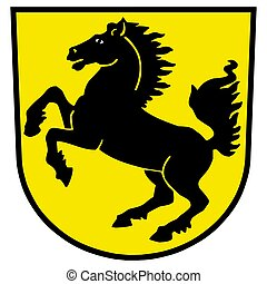 Coat of arms of Stuttgart, Germany. Vector Format.