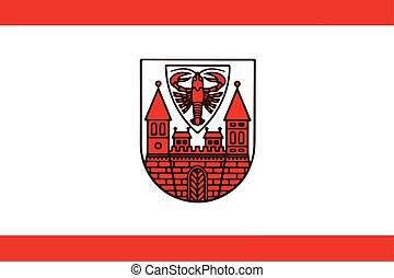 Flag of Cottbus, Germany. Vector Format.