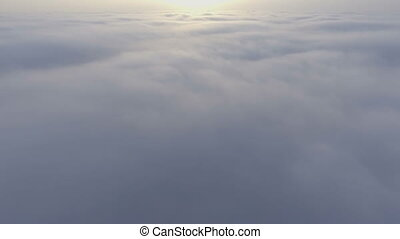 Beautiful Clouds View From Airplane Drone Footage Weather...