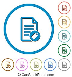 Tagging document icons with shadows and outlines - Tagging...