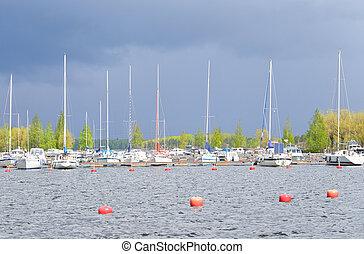 Lappeenranta harbor on the Saimaa lake. - Lappeenranta...
