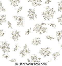Hand drawing peony flowers, seamless pattern.