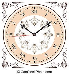 Elegant roman numeral clock