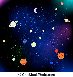 Stars and planets in Space