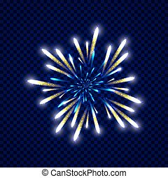 Festive colorfu firework design. Holiday background. Vector...
