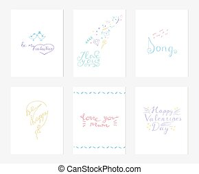 Collection of postcards of love and tenderness.