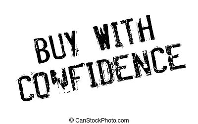 Buy With Confidence rubber stamp