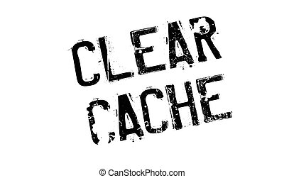 Clear Cache rubber stamp. Grunge design with dust scratches....