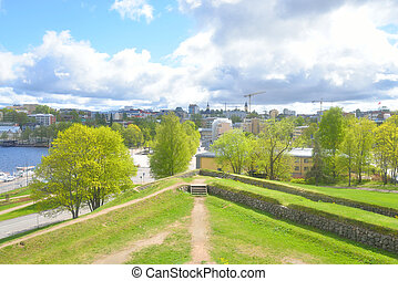View of Lappeenranta city. - View of Lappeenranta. City and...